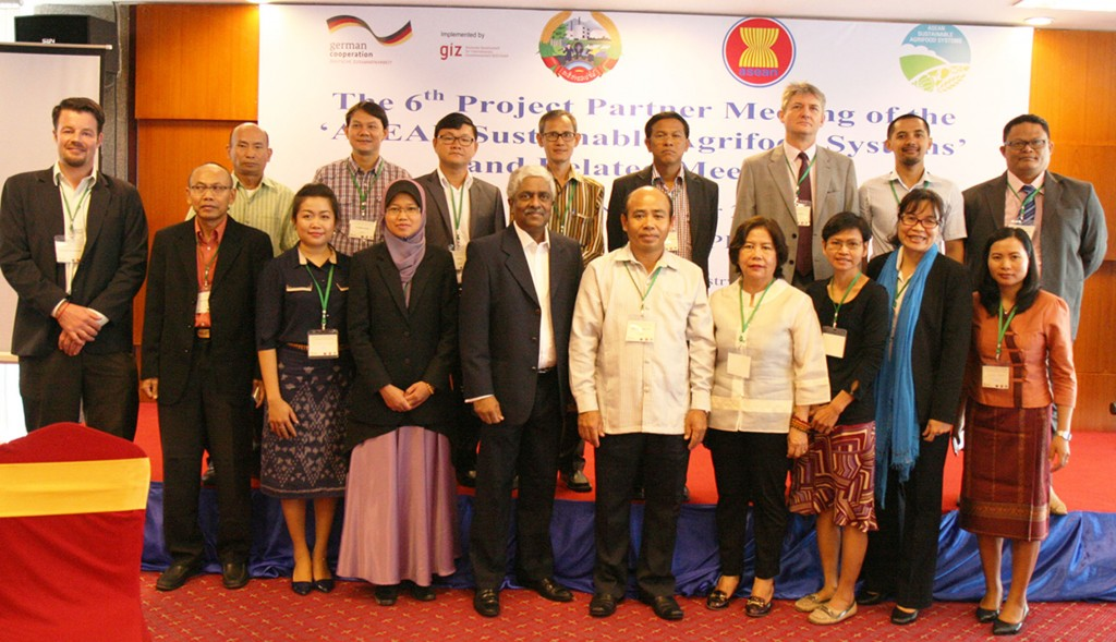 Group photo of the soil experts from 10 ASEAN countries at the 3rd Meeting of Regional Expert Group on Soil and Nutrient Management in November 2015, Lao PDR.