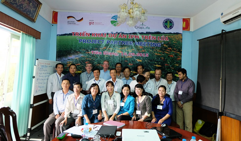 """Participants at the """"Project Partners Meeting"""" in Tien Giang province"""