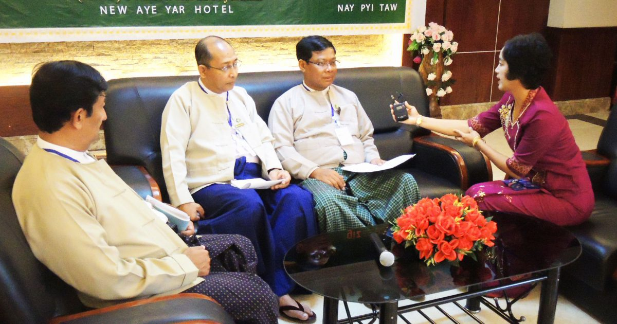 High level 'Policy Dialogue' discussing national policies on food and nutrition security in Myanmar
