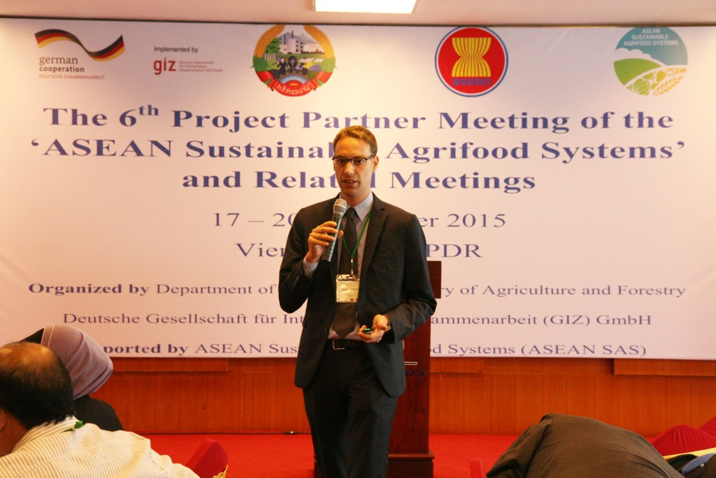 Dr. Matthias Bickel, Project Director of ASEAN Sustainable Agrifood Systems