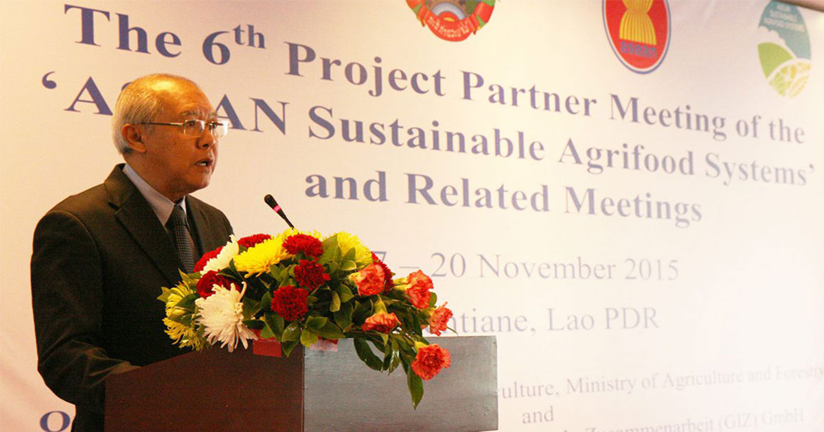 Meeting in Lao PDR discusses sustainable and inclusive agricultural development in ASEAN Member States