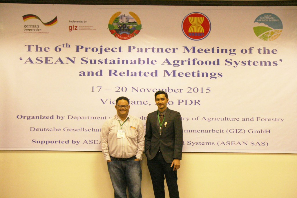 Delegates from from Brunei Darussalam at the 6th Project Partner Meeting of the ASEAN Sustainable Agrifood Systems in Vientiane, Lao PDR