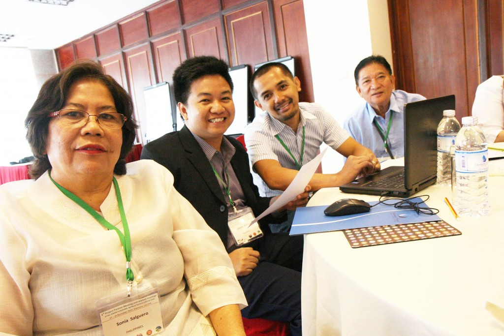 Agricultural experts from Philippines at the ASEAN SAS's 6th Project Partner Meeting.