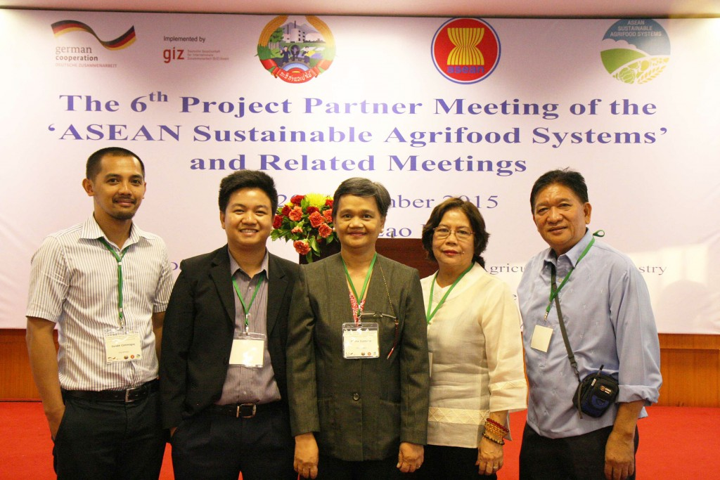 Delegates from Philippines at the ASEAN SAS's 6th Project Partner Meeting on 17-20 November 2015 in Lao PDR.
