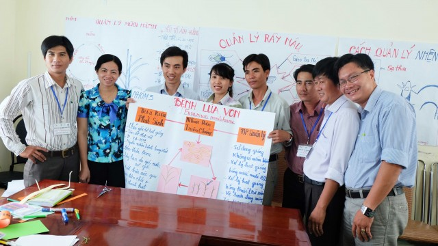 3Plant protection staffs in Vietnam were trained in Integrated