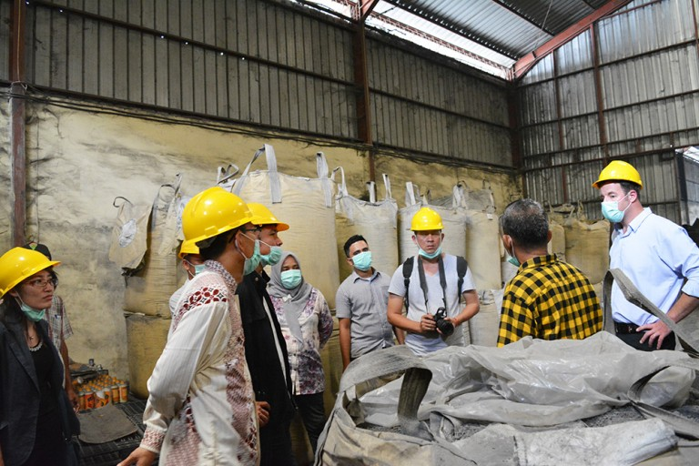 A visit to the biocontrol producer in Medan, Agro Tani Marisi that produces granule and liquid organic fertilizer