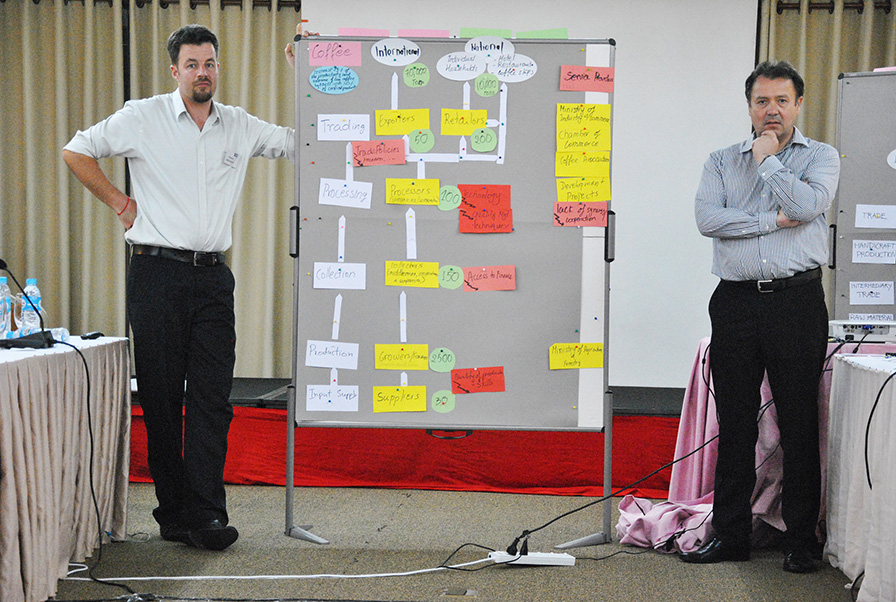 Mr. Alfons Eiligmann (right) from IDC Unternehmensberatung, Germany, and Claudius Bredehöft, National Project Coordinator, ASEAN SAS Cambodia