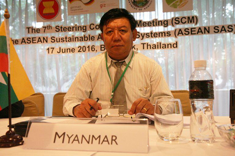 Mr. Aye Ko Ko, Deputy Director General of Department of Agriculture from Myanmar