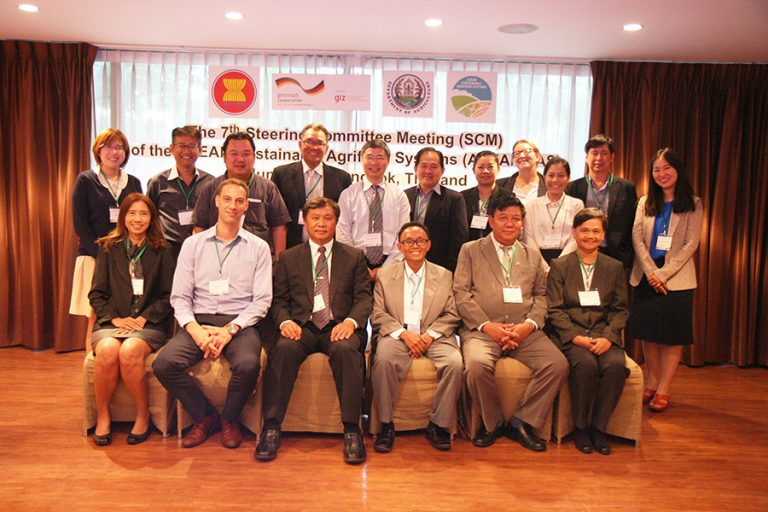 Representatives from eight ASEAN Member States and ASEAN Sustainable Agrifood Systems (ASEAN SAS)