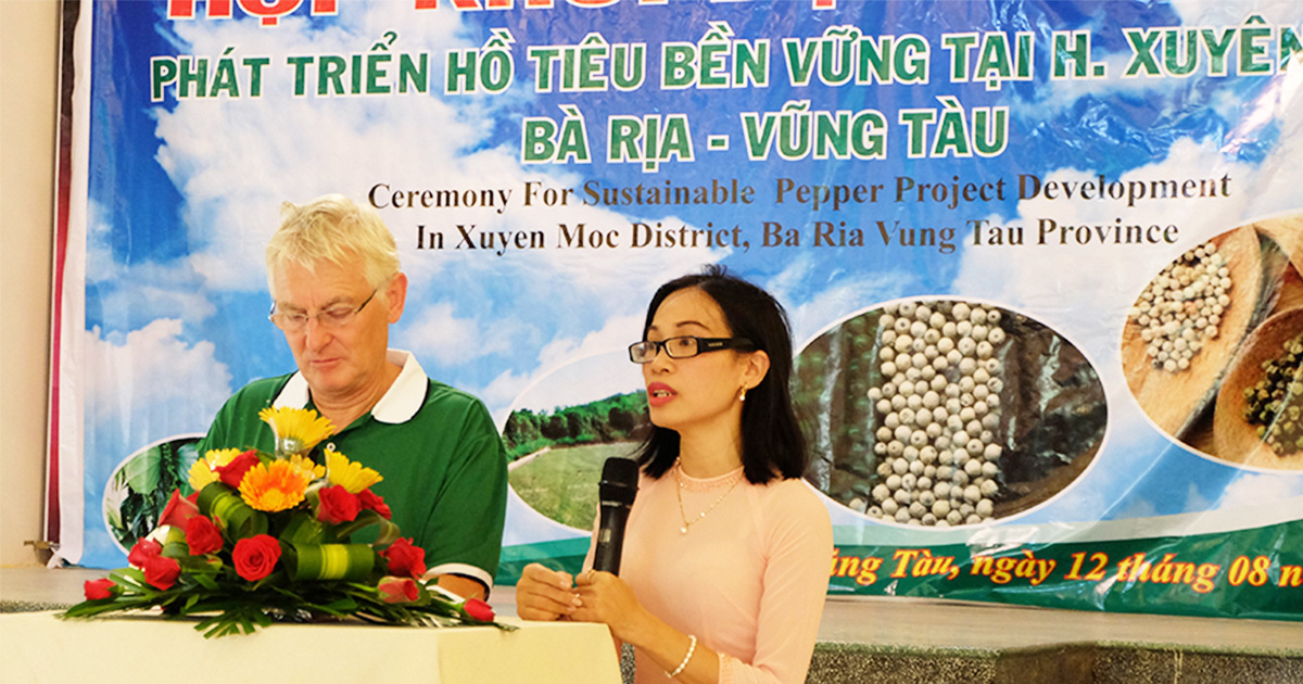Public-Private Partnership cooperation on sustainable pepper initiative project in Vietnam kicked off