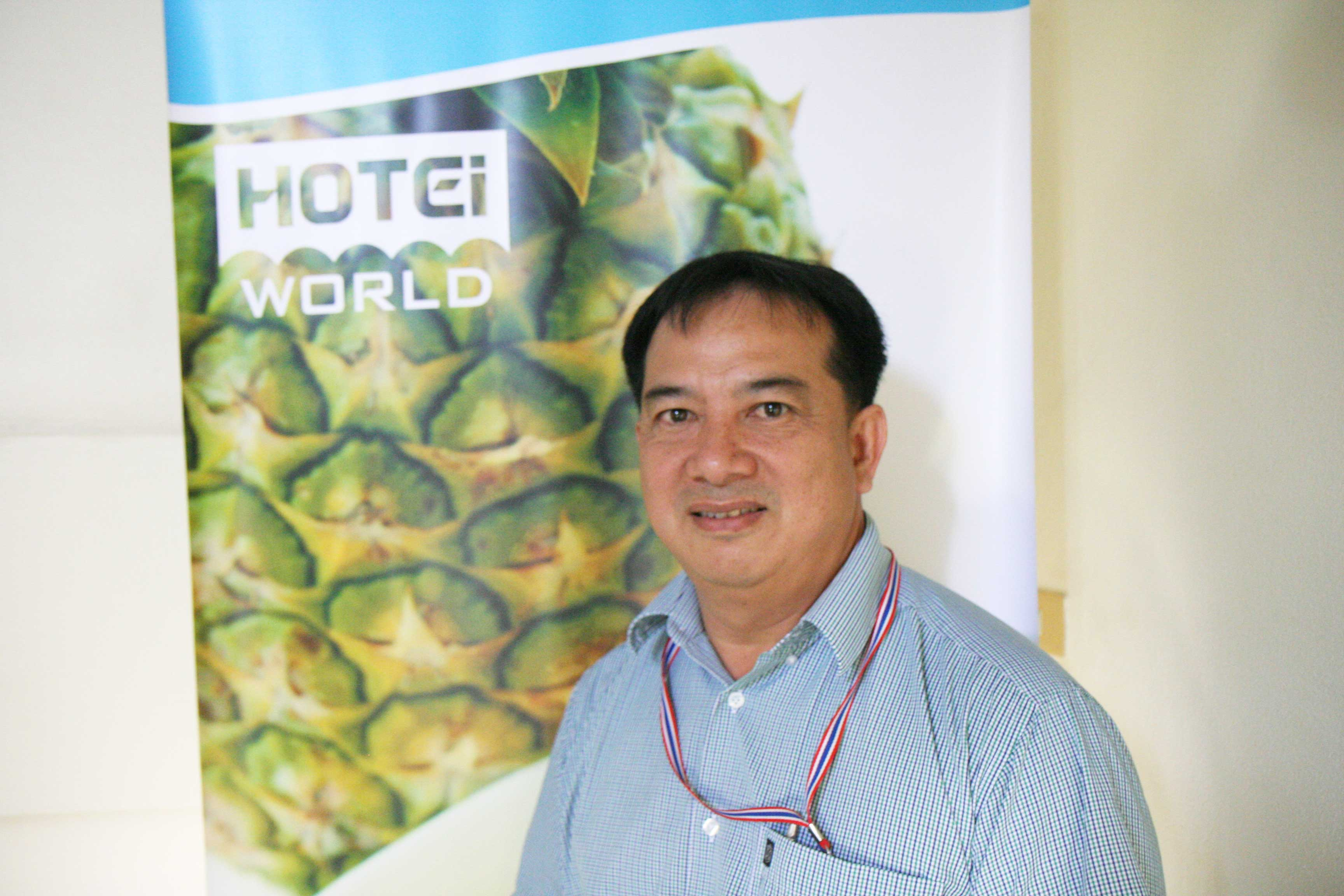 Mr. Somneug Wantem, Factory Manager of Pranburi Hotei in Kuiburi