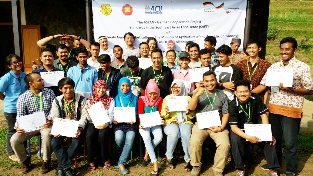 Organic farming training in Bogor, Indonesia