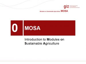 Introduction To MOSA