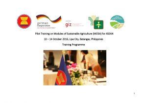 MOSA Training For ASEAN Program