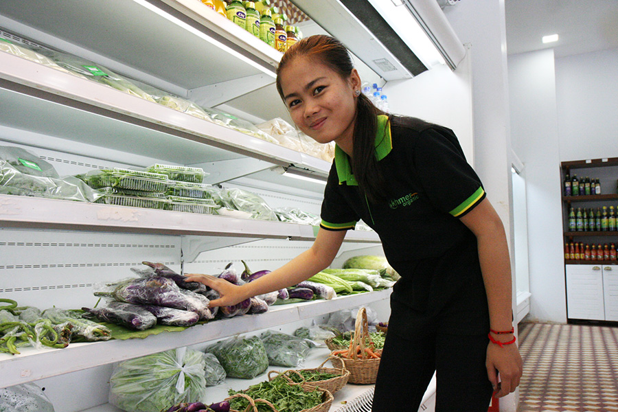 Shop assistant at the Eco-Agri Center