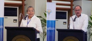 Dr. Margaret Yoovatana (Thailand Department of Agriculture) and Assistant Secretary Lerey Panes (Philippine Department of Agriculture) give their opening and welcome remarks during the three-day event (photo by FOR-CC, GIZ)