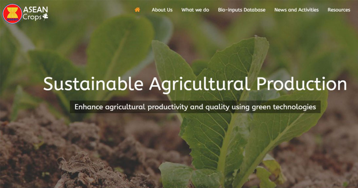 ASEAN Crops website launched at the Meeting of the ASEAN Ministers on Agriculture and Forestry