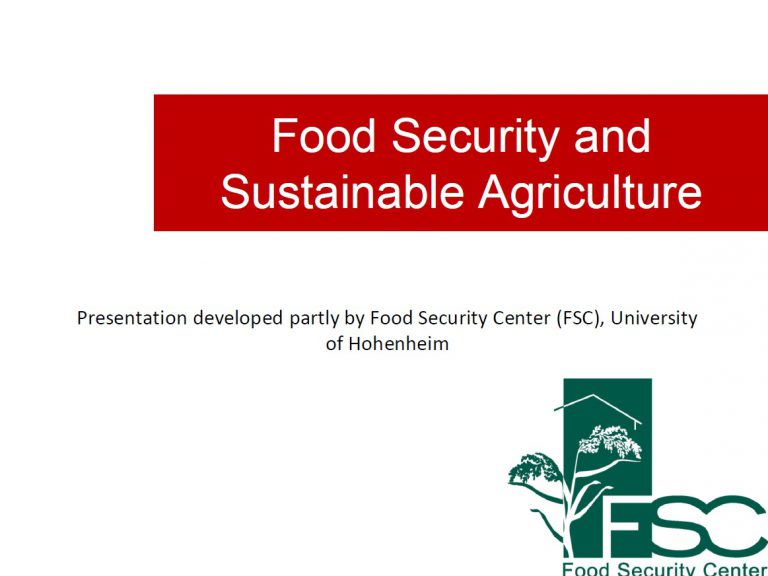 Food Security and Sustainable Agriculture