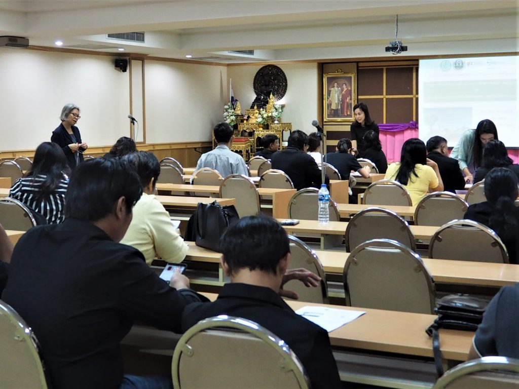 The consultation meeting on appropriate greenhouse gas mitigation measures for oil palm area in Thailand on 30 May 2019 at the Department of Agriculture (DOA), Bangkok. (Photo credit: GIZ Thailand)
