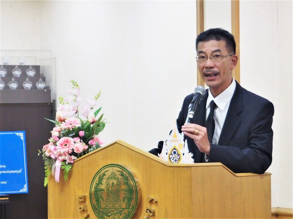 Surakitti Srikul, expert in crop production at the Department of delivers opening remarks. (Photo credit: GIZ Thailand)