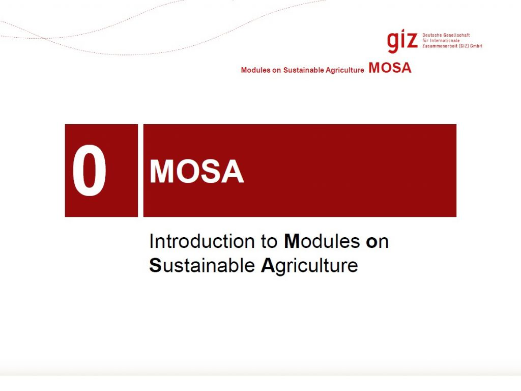 Introduction to Modules on Sustainable Agriculture