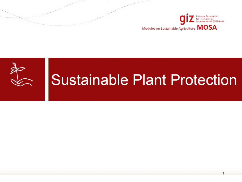 Sustainable Plant Protection
