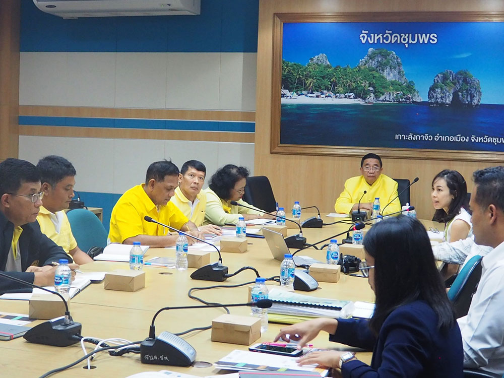 Governor of Chumphon and related agencies agree to speed up efforts for sustainable palm oil production. (Photo credit: GIZ Thailand)
