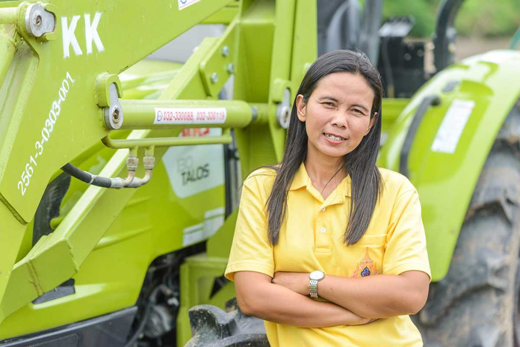 Sawanee Phorang, at the age of 40, has become one of leaders of her community in fighting against climate change. (Photo credit: GIZ Thailand)