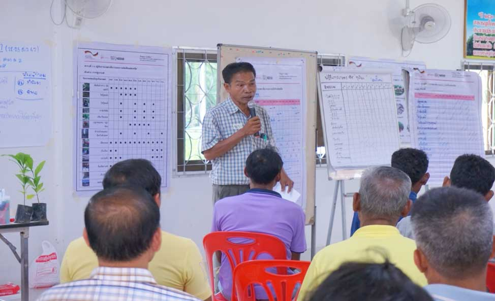 Payungsak Chansaengsakul, the leader of farmers'