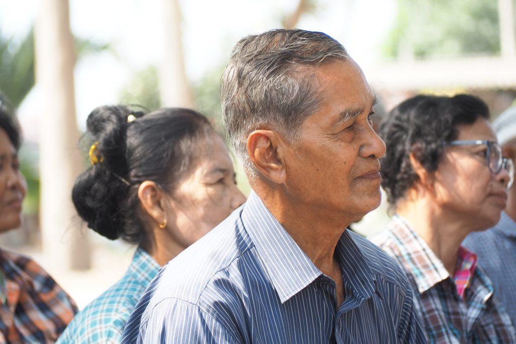 คุณลุงสนั่น เวียงขำ ชาวนาอายุ 78 ปีจากตำบลวัดดาว อำเภอบางปลาม้า จังหวัดสุพรรณบุรี (เครดิตรูปภาพ: GIZ Thailand)
