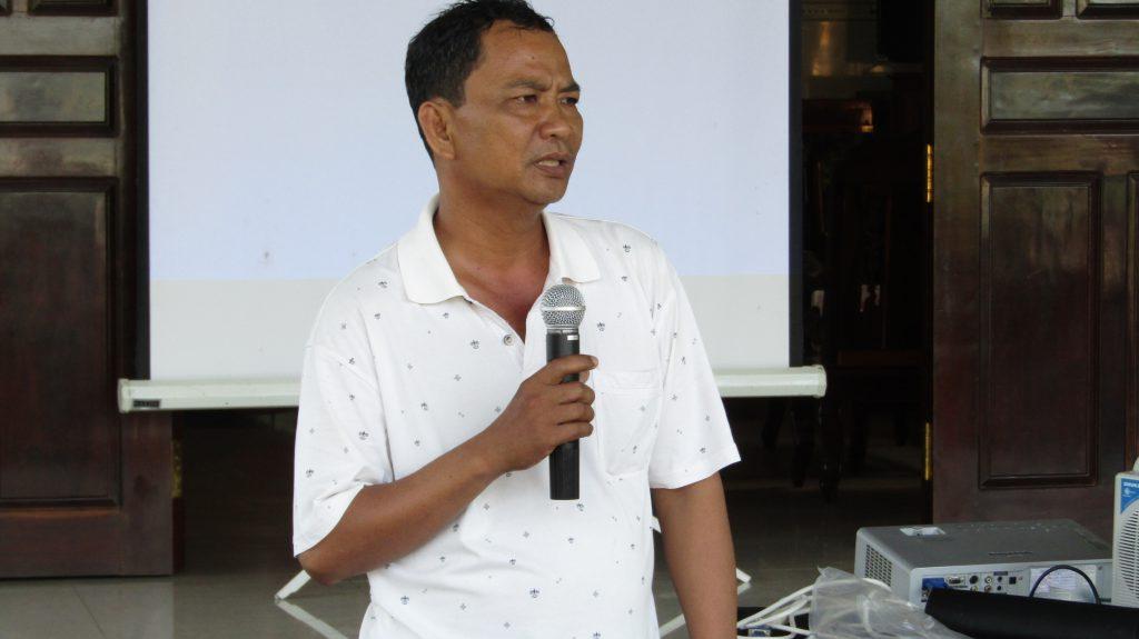Mr. Nguyen Van Ngo, 48 years old, farmer and leader of Tan Tuyen Farmer Group. (Photo credit: GIZ Vietnam)